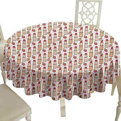 Polish Round Table.Amazon Com The Pattern Round Table Cloth 54 Inch Girls Lipstick