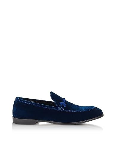 Men's MARTIVELNAVY39 Blue Velvet Loafers