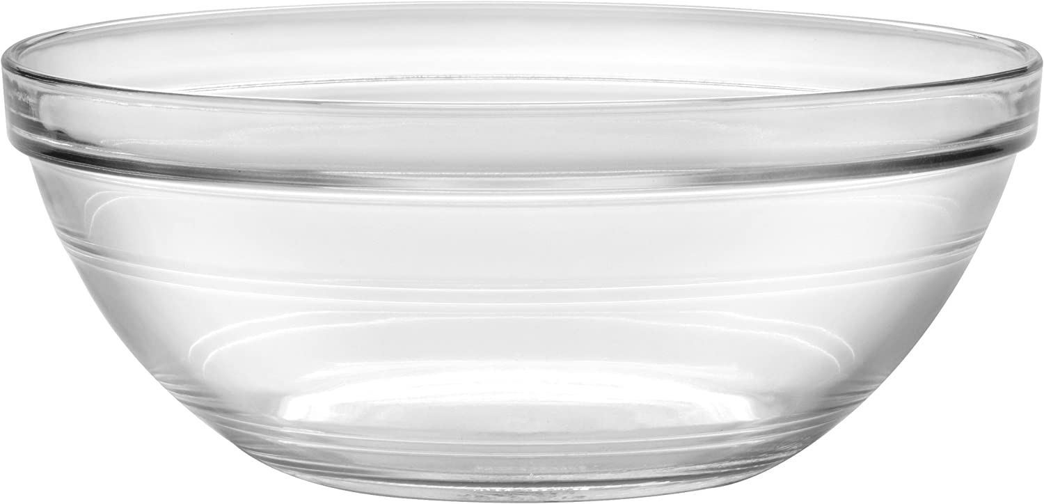Duralex - Lys Stackable Clear Bowl 23 cm (9 in) Set Of 6