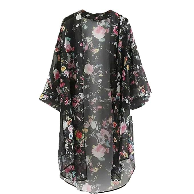Blusa Bohemia Quimono Camisa Larga Mujer 2018 Camisas Impresas Floral Casual Blusas Femininas Blusas Cárdigan Kimono