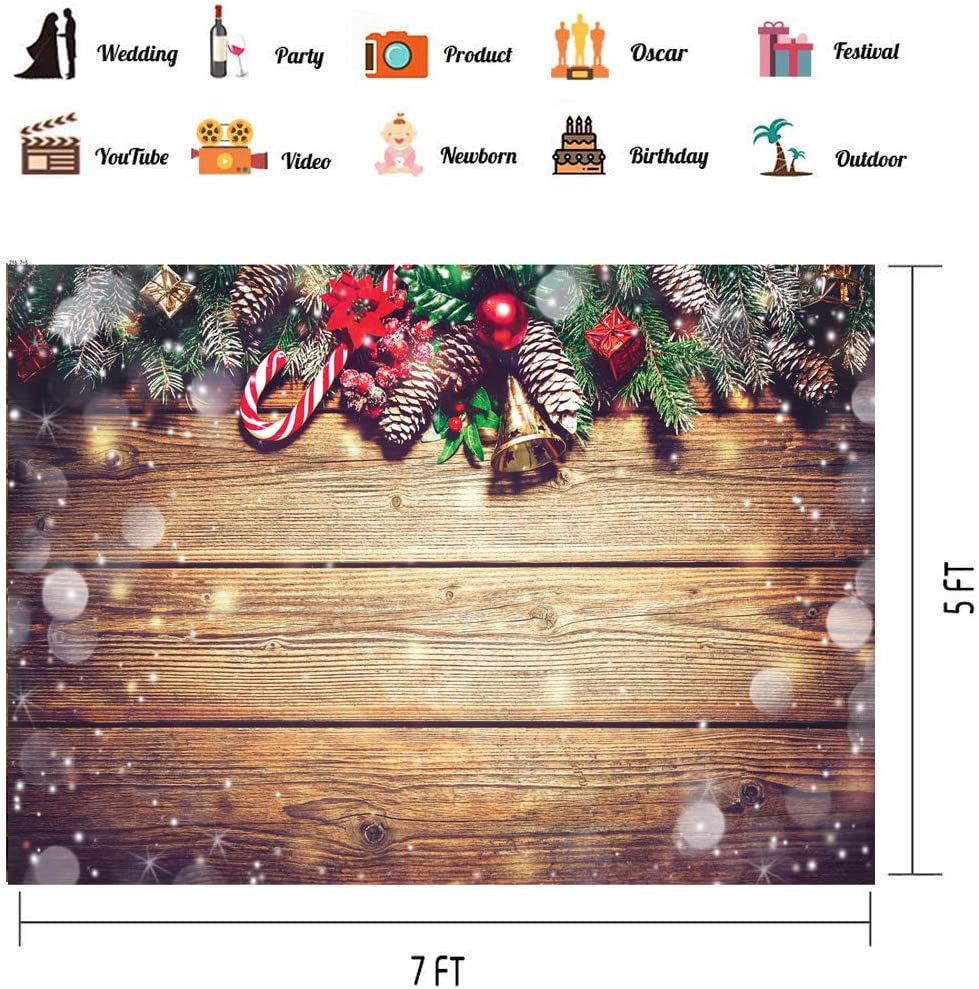 LTLYH 8x8ft Christmas Fireplace Theme Backdrop for Photography Tree Sock Gift Decorations for Xmas Party Supplies Photo Background Pictures Banner Studio Decor Booth Props A035