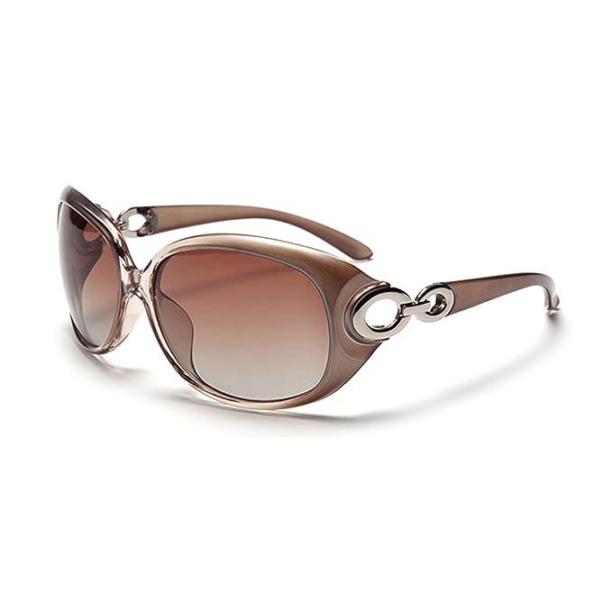 QIXU Gafas de Sol Mujer Polarizadas Ovaladas Grandes de Marca y Caja UV400 Antirreflejante Moda Clásico