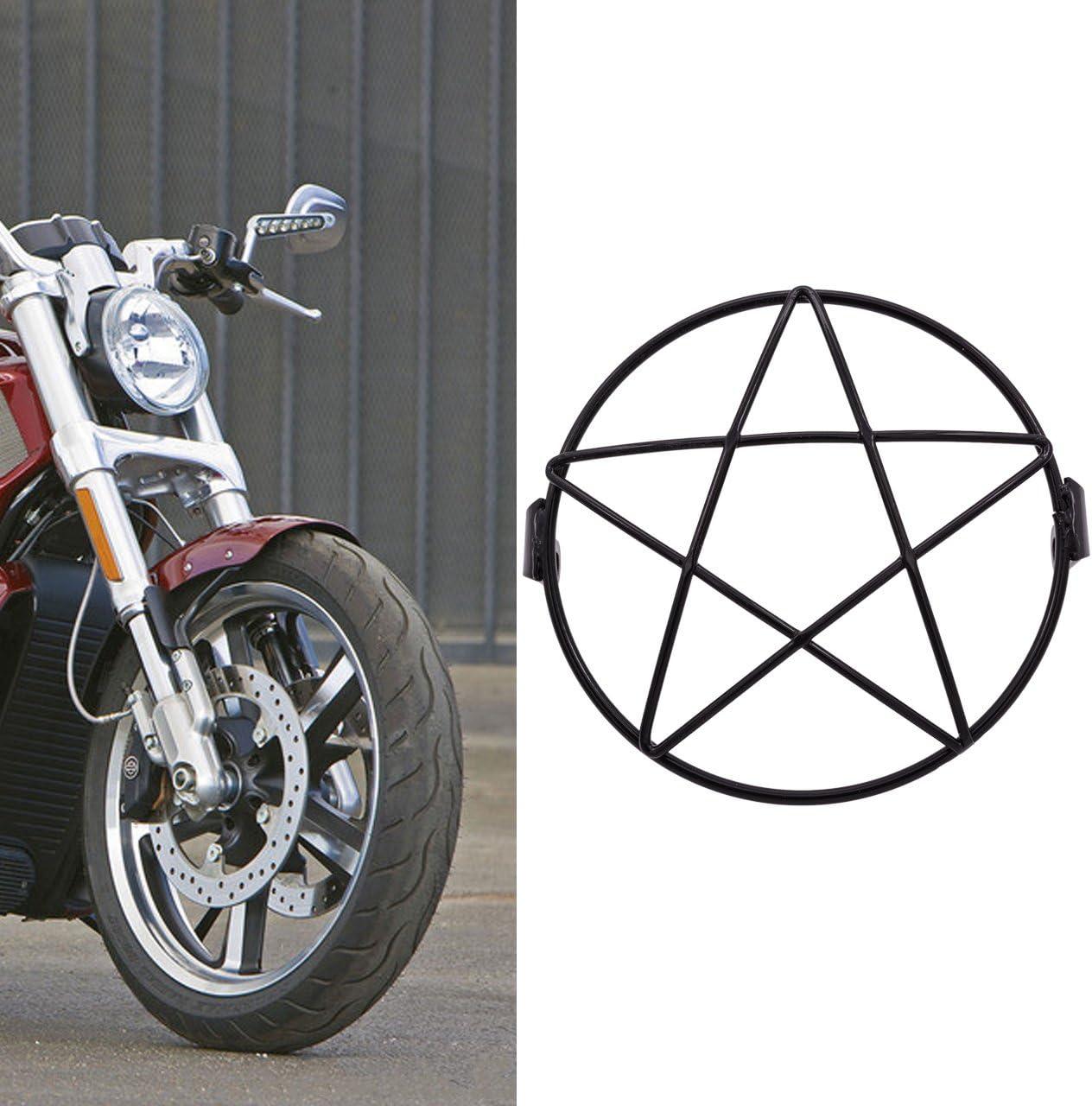 NATGIC Grille de phare de moto pour phare de 8 mm /à 10 mm en m/étal universelle montage lat/éral /à vis