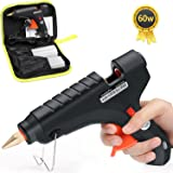 LeaderPro Hot Glue Gun,60W Hot Melt Glue Gun Kit with Carry Bag and 20 pcs Glue Sticks for DIY Small Craft Arts & Crafts Projects Sealing and Quick Repairs in Home Office Artistic Creation,Black