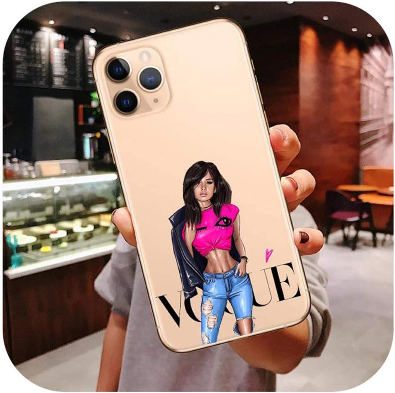 Coque pour iPhone 11 Pro Max Girl Mom Baby Boss Coffee Phone pour ...