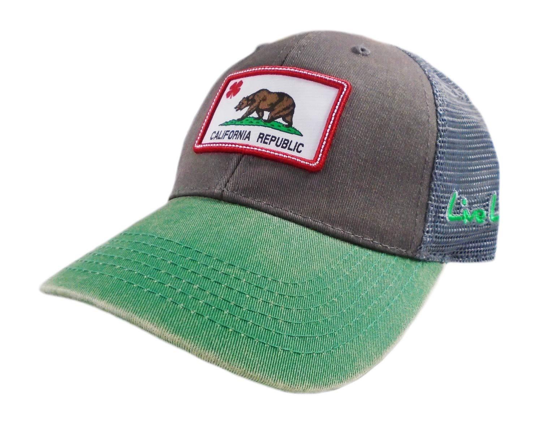 Black Clover New Live ラッキーカリフォルニアフラッグパッチ グレー/グリーン 調節可能な帽子   B07KL5RN6S