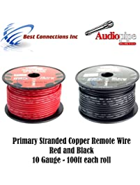 Power ground cable amazon 10 gauge wire red black power ground keyboard keysfo Choice Image
