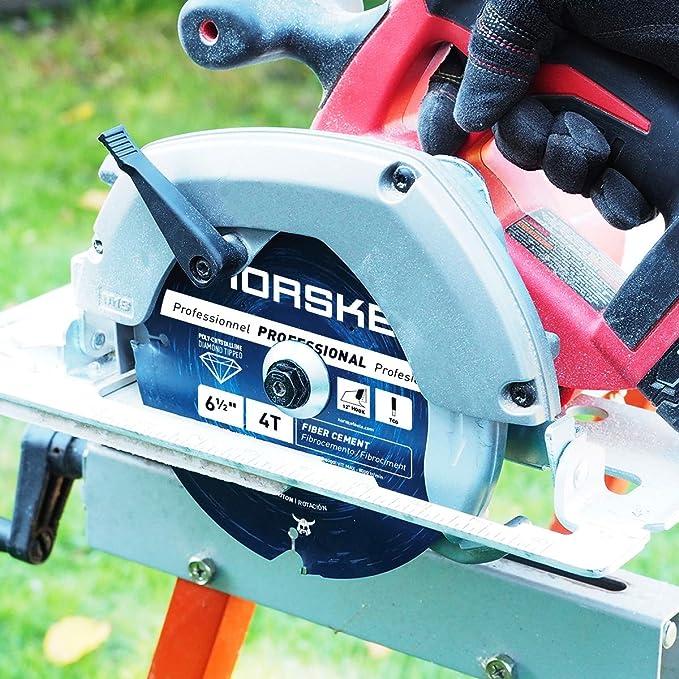 Norske Tools NCSBP281 6-1/2 inch 4 Tooth Polycrystalline Diamond (PCD) Hardie Fiber Cement Saw Blade