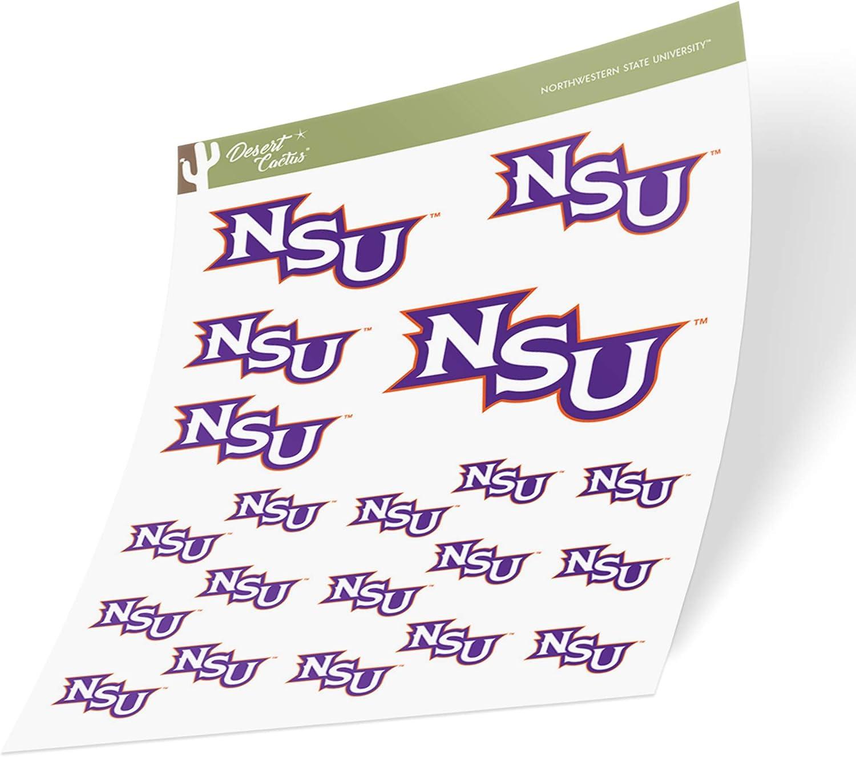 Sheet Type 3-1 Northwestern State University NSU Demons NCAA Sticker Vinyl Decal Laptop Water Bottle Car Scrapbook