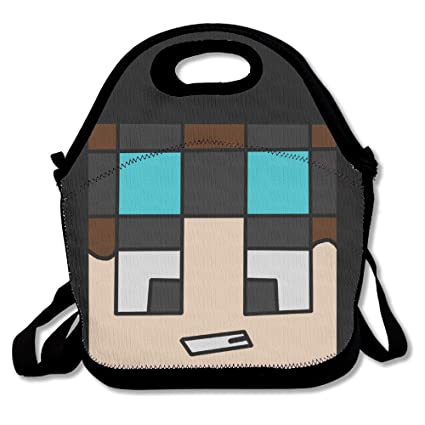 amazon com trydoo the diamond minecart dan tdm handbag lunch bags
