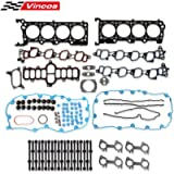 Vincos Cylinder Head Gasket Set with Bolts HS9790PT-15 ES72798 Compatible with Expedition F250 F350 Super Duty 2000-2004…