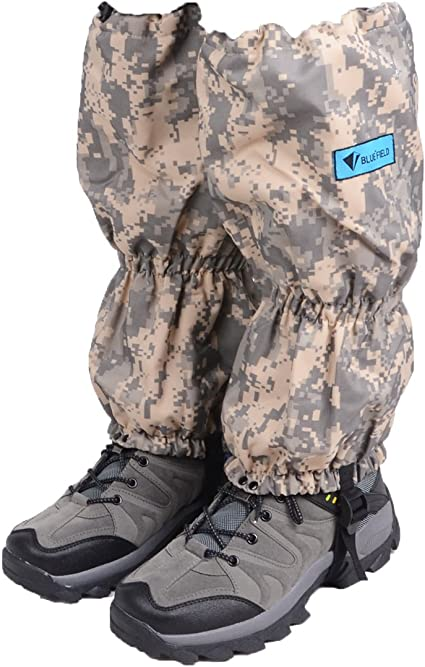 UNISTRENGH High Leg Gaiter Waterproof Camping Hiking Camouflage Snow Boots Covers