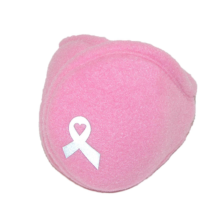 180s Women's Pink Ribbon Breast Cancer Wrap Around Earmuffs, Pink Ribbon
