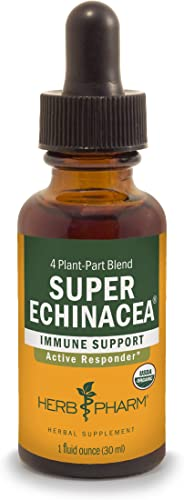 Herb Pharm Certified Organic Super Echinacea Liquid Extract for Active Immune System Support – 1 Ounce