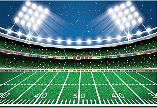 YEELE Cartoon American Football Backdrop 10x8ft School Cup Competition Decor Photography Background Sport Themed Bowl Party Birthday Photos Rugby Get-Together Soccer Photobooth Digital Wallpaper
