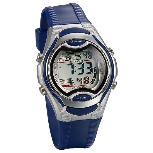 JewelryWe Relojes para Niños Niñas Reloj Deportivo Digital Para Aire Libre Reloj Infantil De Colores, Reloj Multifuncional con Calendario, Azul: Amazon.es: ...
