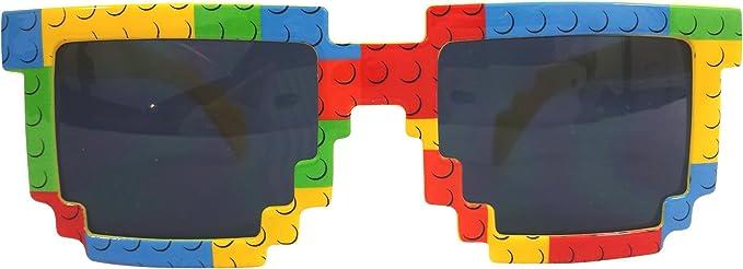Party Ninja Brick-Theme Sunglasses for Building Brick Loving Kids. Build in Style!