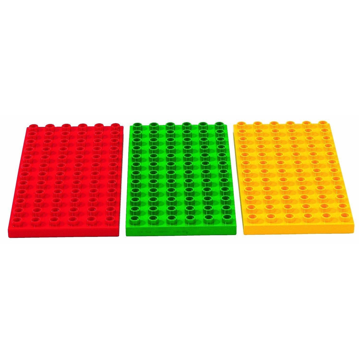 LEGO Duplo 2198-3 Bauplatten rot//gr/ün//gelb