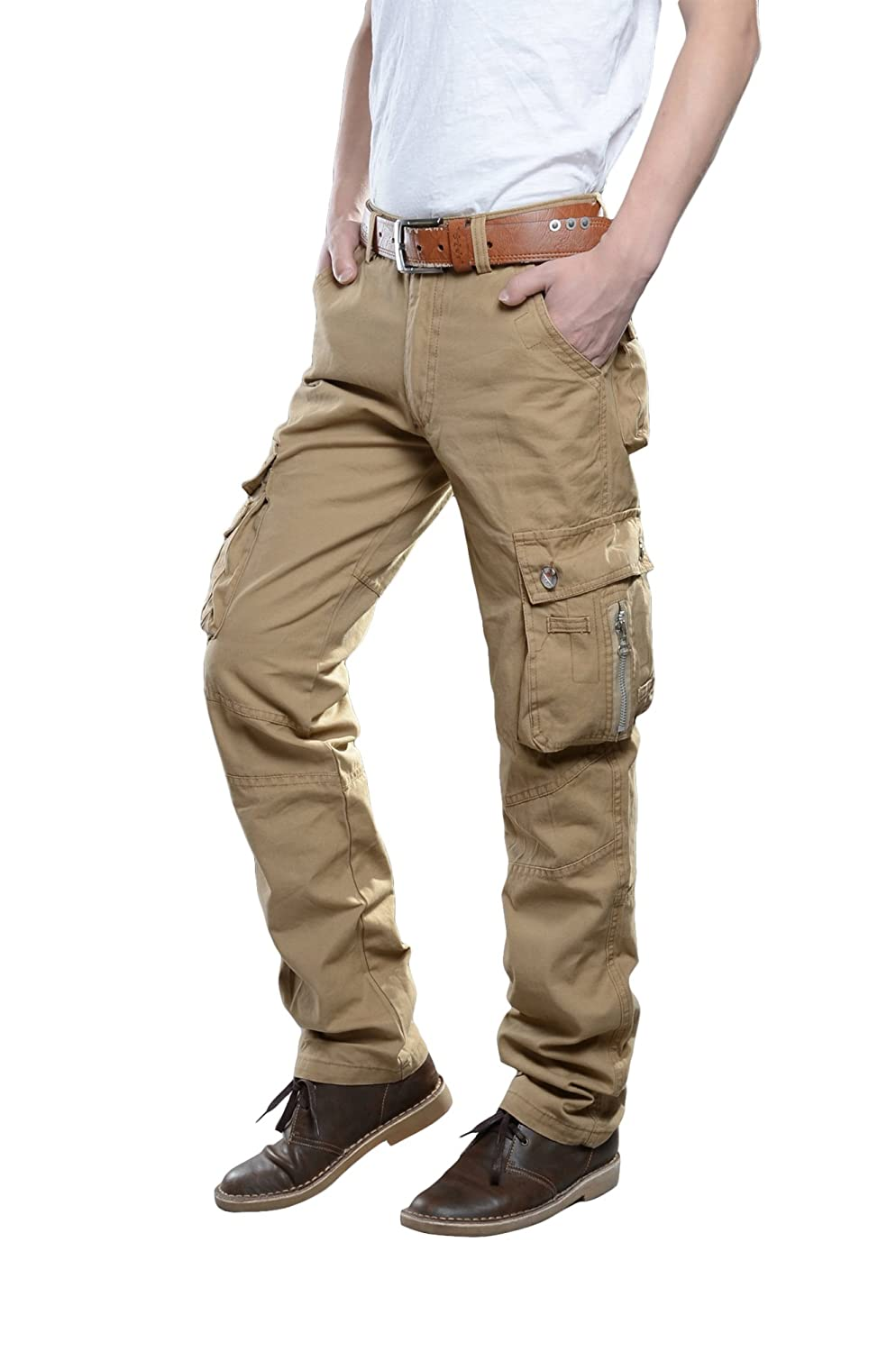 TAIPOVE Mens Lightweight Quick-Dry Outdoor Cargo Pants Hiking Convertible Pant Zip Off Fishing Travel Mountain Trousers