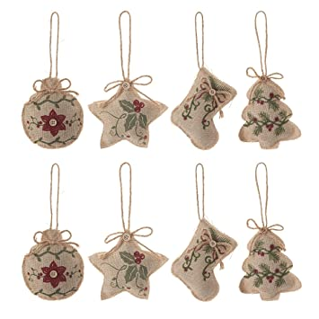 Image Unavailable. Image not available for. Color: Christmas Tree Ornaments  ... - Amazon.com: Christmas Tree Ornaments Stocking Decorations - 8pcs