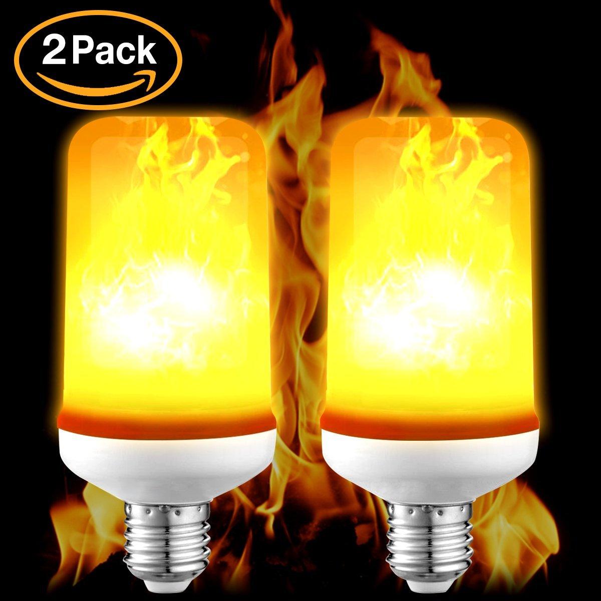 MCIRCOアップグレード3モードLED炎効果Fire Lightライトちらつきwithエミュレーション、大気ヴィンテージ装飾ランプの電球、2個クリエイティブのホテル/バー/ホーム装飾/レストラン B077SW36Z5