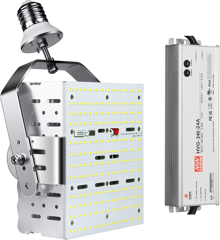 Goodliter 100W Shoebox Street Pole Light led retrofit Kits Replace 400W MH//HPS//HID Equivalent Street Light Flood Light Parking Lot Lighting
