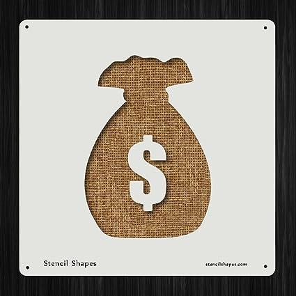Reusable DIY Craft Stencils of a Dollar Sign Dollar Sign Stencil