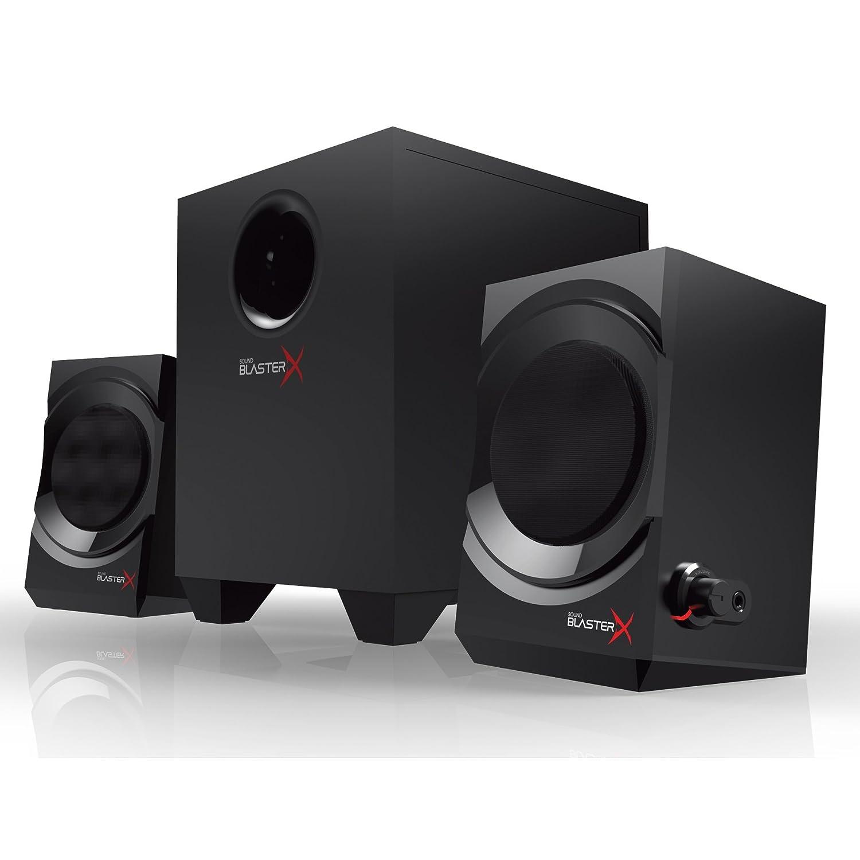 Creative Sound BlasterX Kratos S3 - Altavoces para Juegos analógicos 2.1, Color Negro