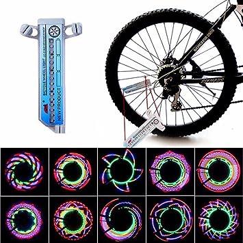 32LED Flash Luz de Rayo de Rueda de Bici - Luz LED de Rueda de Bicicleta MultiColor Lámpara de Bicicleta Impermeable: Amazon.es: Deportes y aire libre