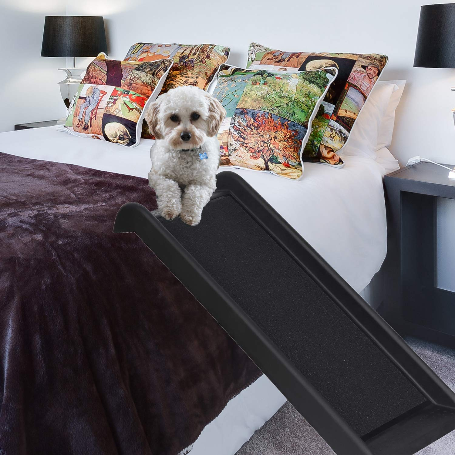 ZLin Safety Half Pet Ramp Portable Small Dog Ramp Support Up to 150lbs, 40 in, Great for Sofa, Bed, Step, and Chair, Not for SUV, CAR by ZLin