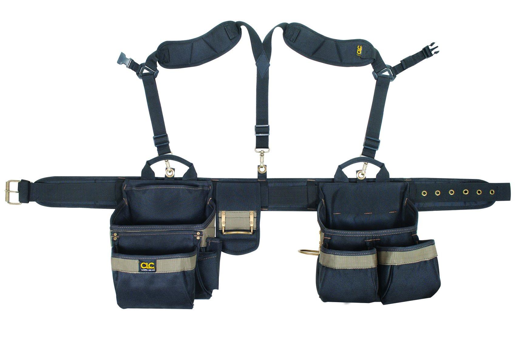 CLC Custom Leathercraft 1614 20 Pocket, Heavy Duty Framers 5 Piece Comfortlift Combo Tool Belt System by Custom Leathercraft
