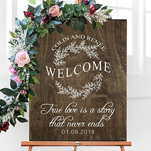 Wedding Welcome Sign.Amazon Com Wedding Welcome Sign Wood Wedding Welcome Sign