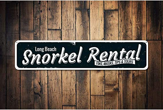 Snorkel Rental Sign Personalized Fins Masks Tips /& Tours Sign ENSA1001183A