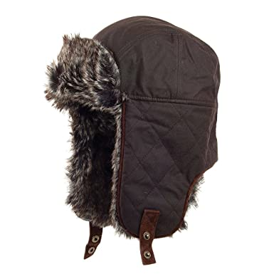 3e268daf199 Failsworth Hats Waxed Cotton Trapper Hat - Brown Brown Large X-Large   Amazon.co.uk  Clothing