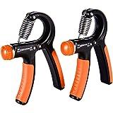 Fledo Hand Gripper Strengthener Grip Exerciser Adjustable Resistance 20 to 90 Lbs   Arm Trainer Best for Finger and Forearm Strength