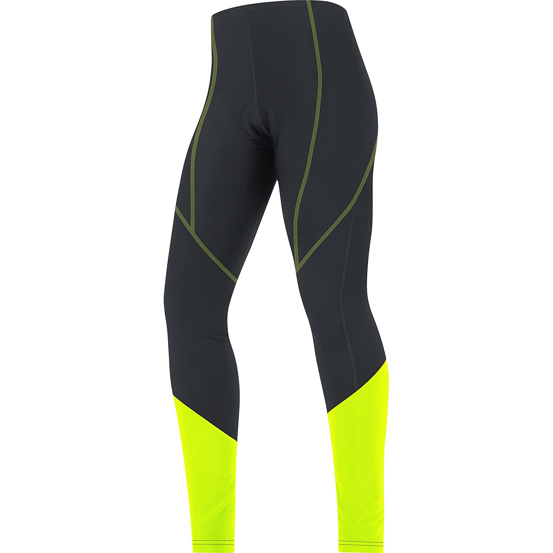 Gore Bike WEAR Women's Thermo Tights, Black/Neon Yellow, Small