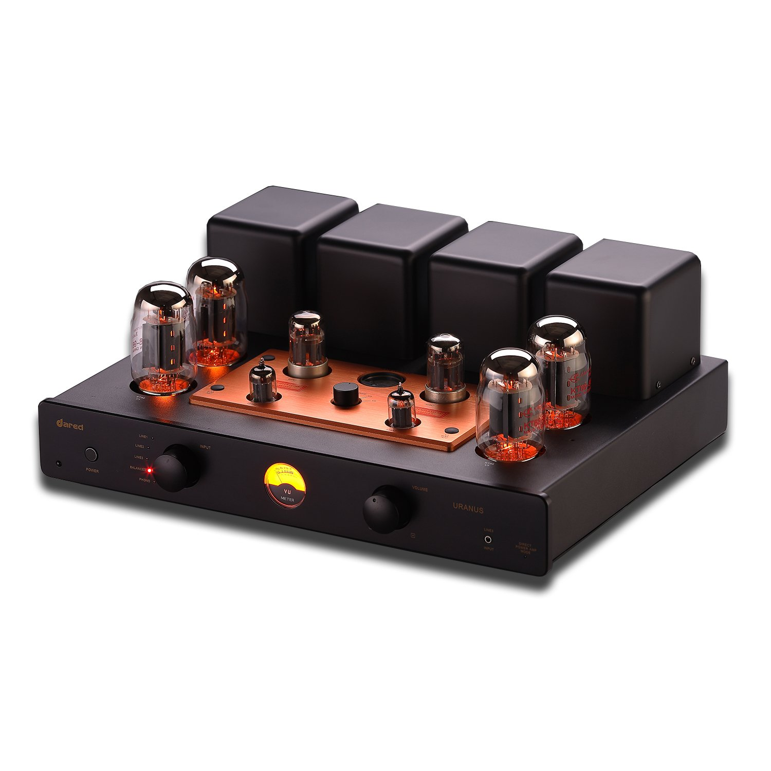 Original Dared URANUS HIFI Vacumn Tube KT88 Amplifier Hi-end Integrated with Remote Control support Direct Power AMP KT88*4, 12AX7*2, 6N8P*2 (KT120 tube optional) AMP05
