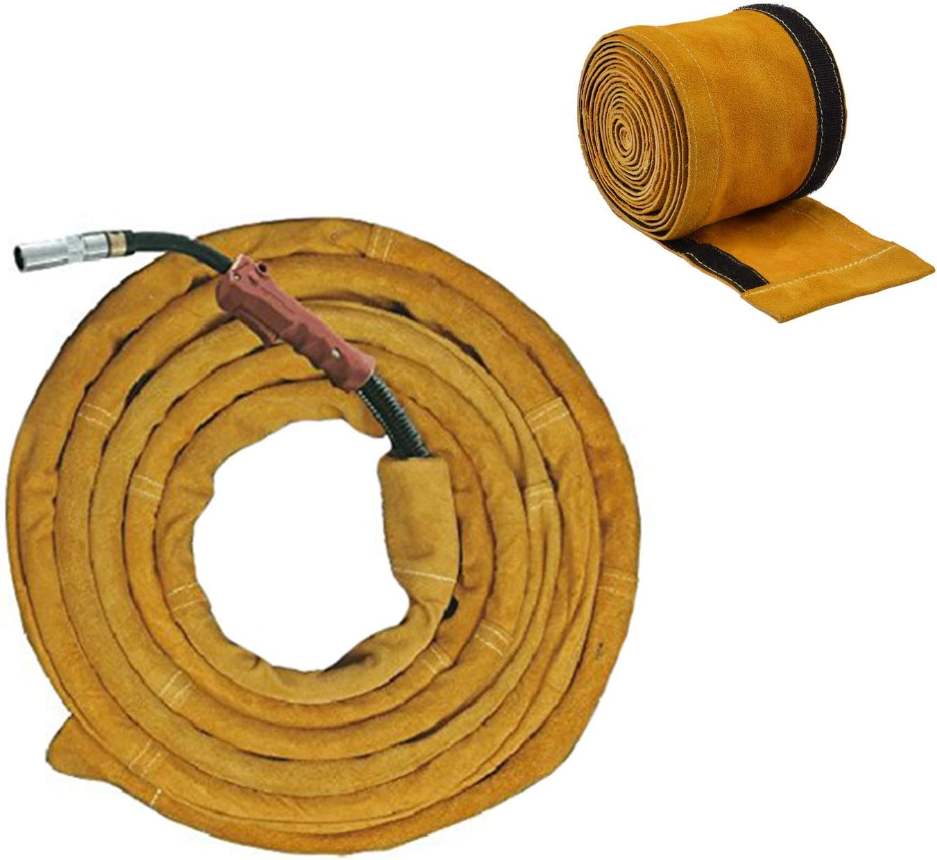 Length 4m Power Cable Cover Cowboy Jacket for Plasma TIG Cutter Torch Durable