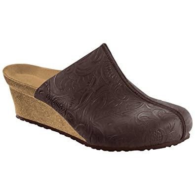 878bdc7ae3f4 Birkenstock Women s Dana Wedge Relief Brown Nubuck Clog - 36 N EU   5-5.5