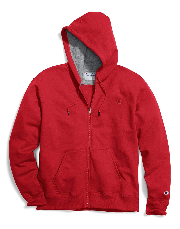 Champion Men's Big & Tall Full-Zip Fleece Hooded Jacket CH105