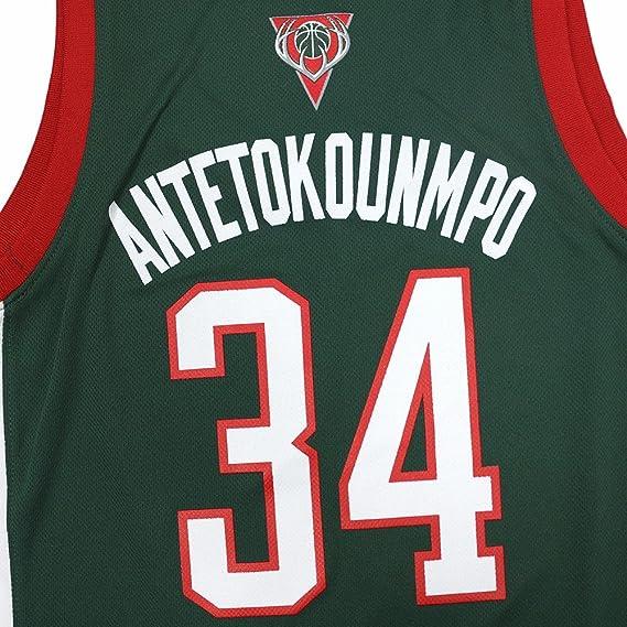 Adidas Giannis Antetokounmpo Milwaukee Bucks NBA réplica de la Camiseta Verde de la Mujer, L, Verde: Amazon.es: Deportes y aire libre
