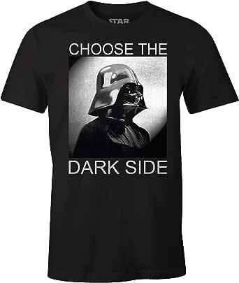 Star Wars Camiseta para Hombre Darth Vader Elige el Lado Oscuro de algodón Negro