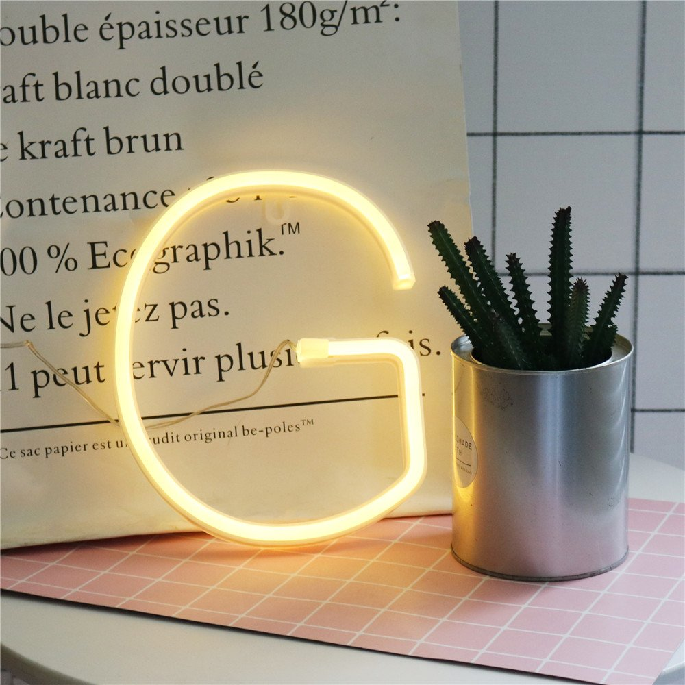 Vimlits DELICORE Neon letter Sign Night Lights LED Alphabet Neon Art ...