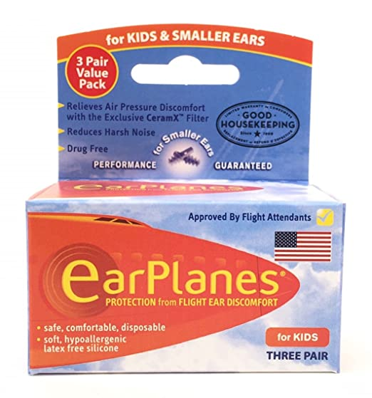 EarPlanes® for Kids 3 Pair VALUE PACK (3 Pair)