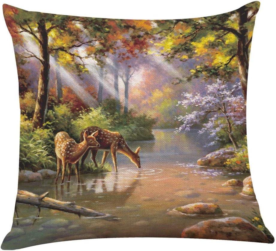 khdug Forest Animal Hug Pillowcase Home
