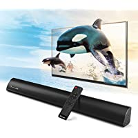 2.1 Channel Bluetooth Sound Bar, Wohome TV Soundbar with Built-in Subwoofer(Wireless Home Theater Speaker,32-Inch, 60W, 3 Drivers, Remote Control, Wall Mountable, Model S05)