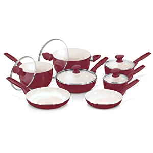 GreenPan Rio Ceramic Cookware Set (CW0005535), 12-piece