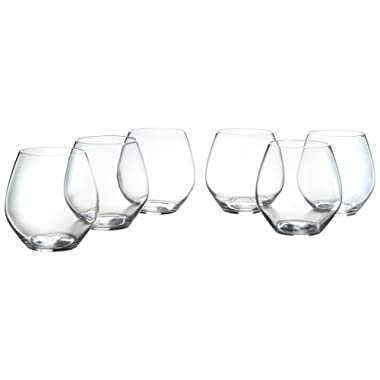 Stone & Beam Traditional Stemless Red Wine Glass, 19-Ounce, Set of 6