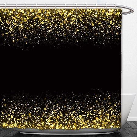 Beshowere Shower Curtain Gold Sparkle Glitter Background Stars Sparkling Flow Amazoncouk Kitchen Home