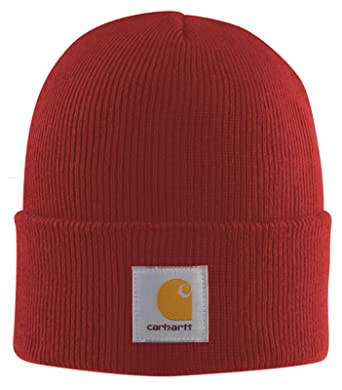 Carhartt Acrylic Watch Cap - Chilli Iconic Dark Red Watch Hat  CHA18CHILLI-Universal c14eec5e54d